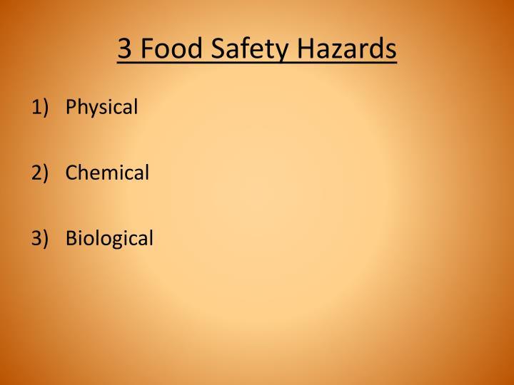 3 Food Safety Hazards