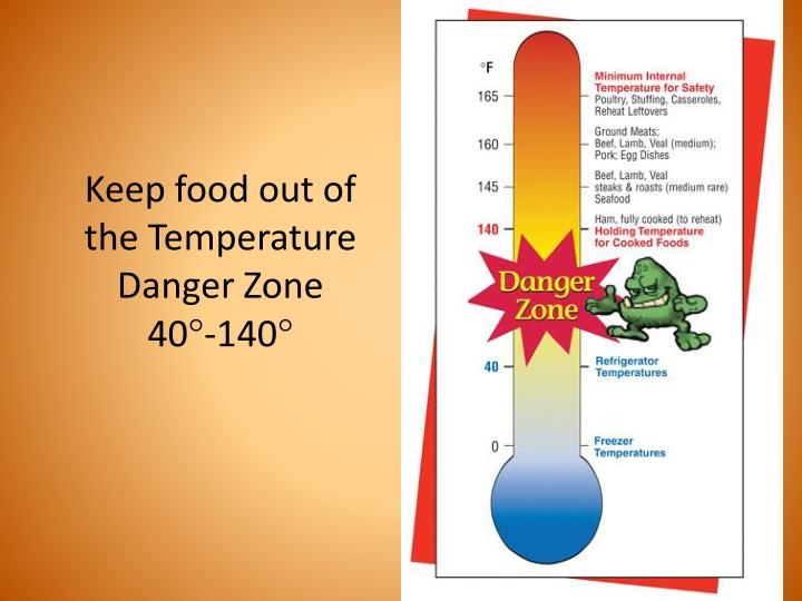 Keep food out of the Temperature Danger