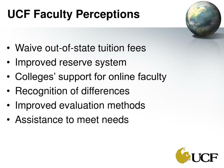 UCF Faculty Perceptions
