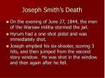 joseph smith s death