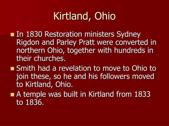 Kirtland, Ohio