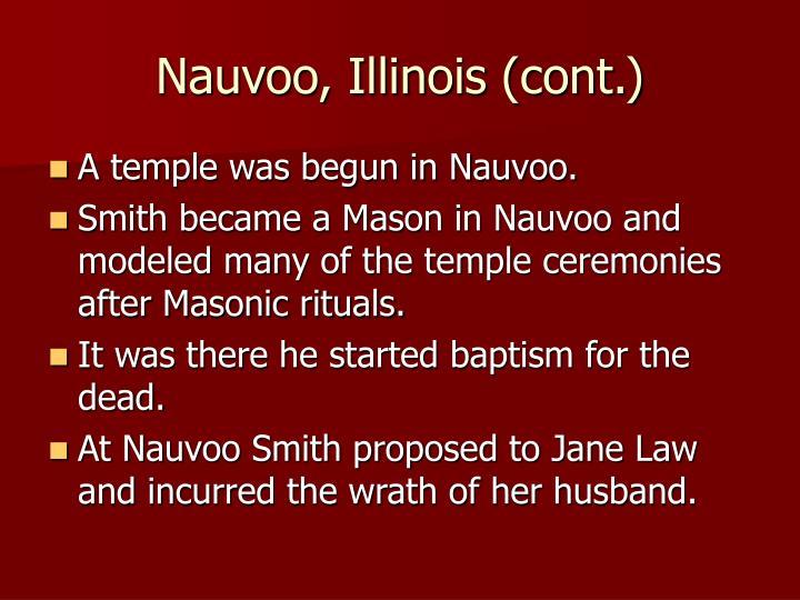 Nauvoo, Illinois (cont.)
