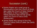 succession cont
