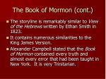 the book of mormon cont