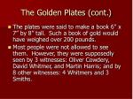 the golden plates cont