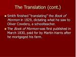 the translation cont