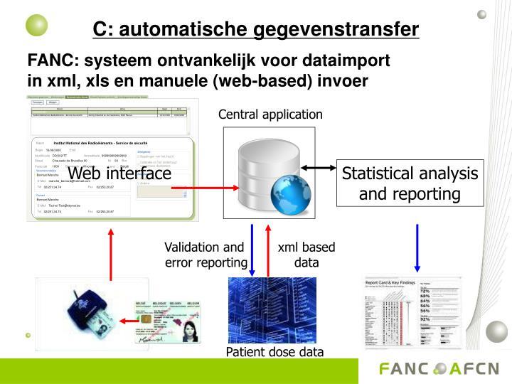 C: automatische gegevenstransfer