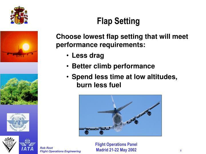 Flap Setting