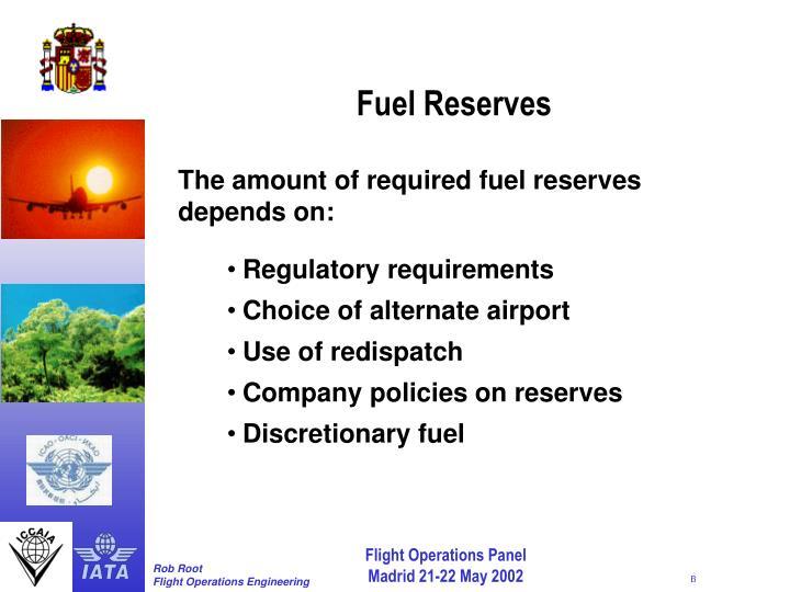 Fuel Reserves