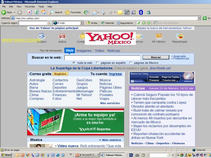 WWW.YAHOO.COM.MX