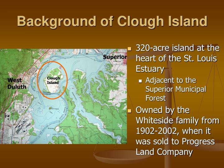 Background of clough island