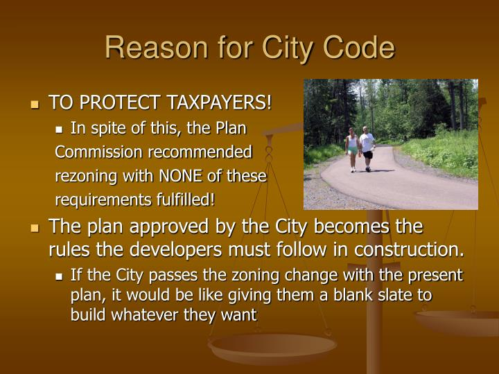 Reason for City Code