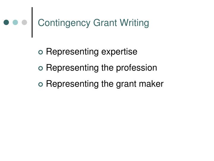 Contingency Grant Writing