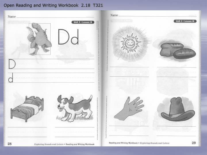 Open Reading and Writing Workbook  2.18  T321