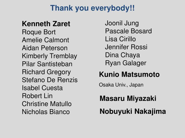 Thank you everybody!!