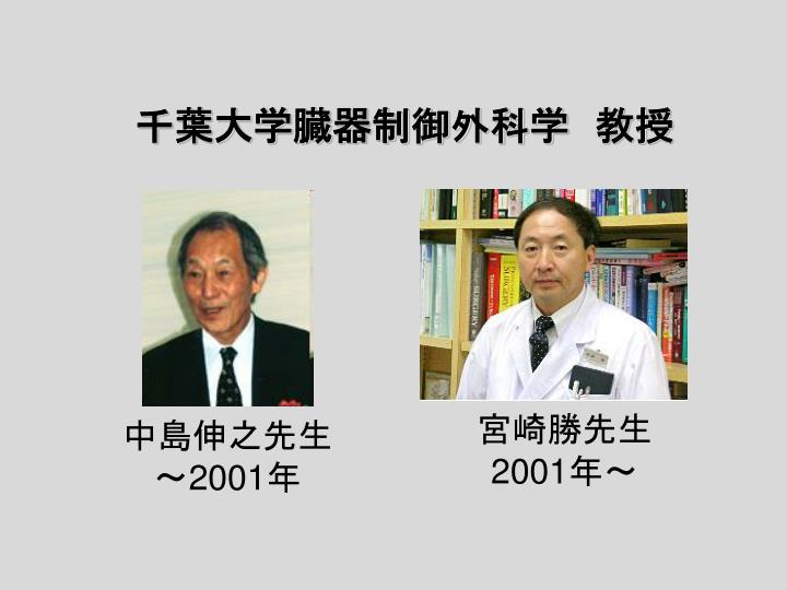 千葉大学臓器制御外科学 教授