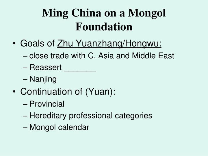 Ming China on a Mongol Foundation