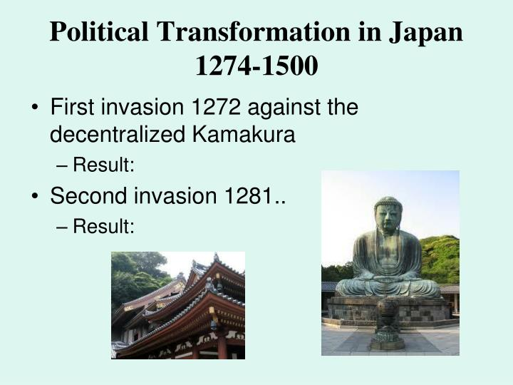 Political Transformation in Japan 1274-1500