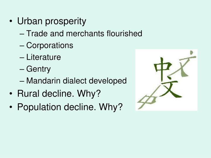 Urban prosperity