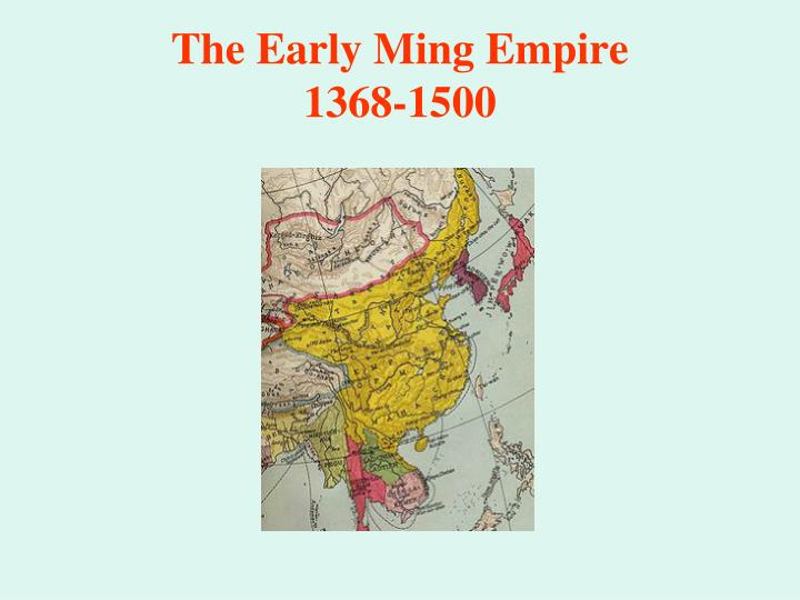 The Early Ming Empire