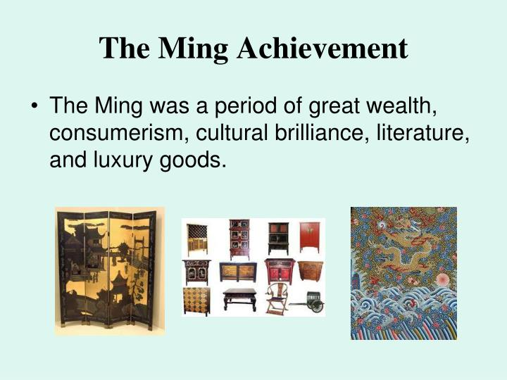 The Ming Achievement