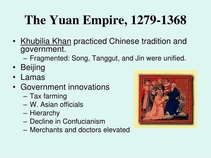 The Yuan Empire, 1279-1368