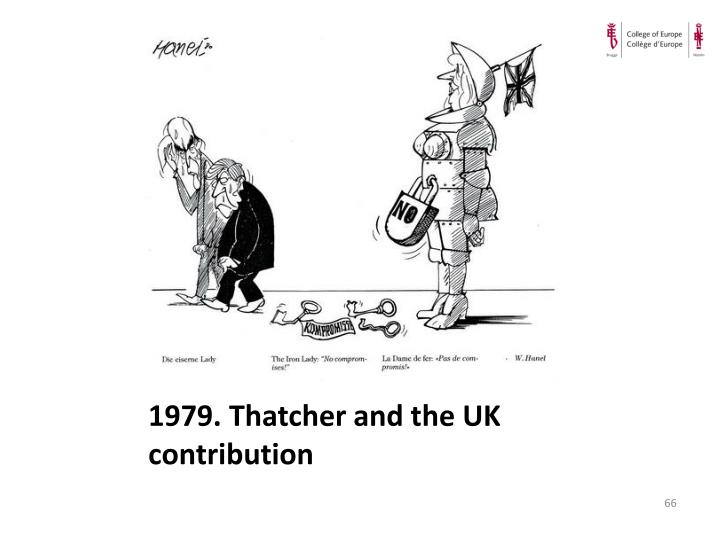 1979. Thatcher and the UK contribution