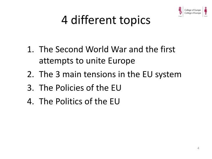 4 different topics