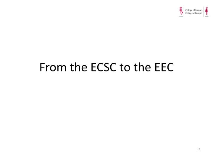 From the ECSC to the EEC