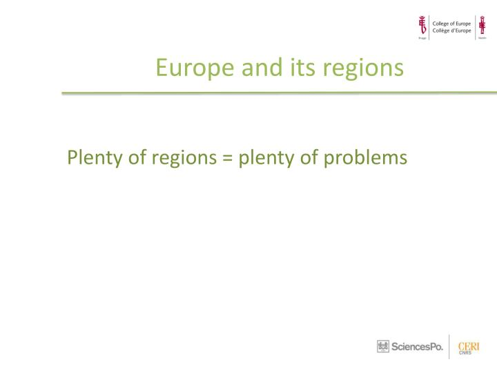 Europe and its regions