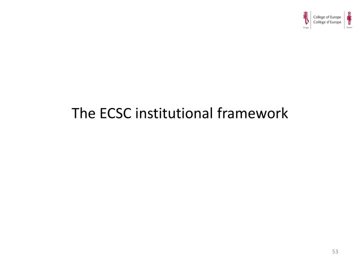 The ECSC institutional framework