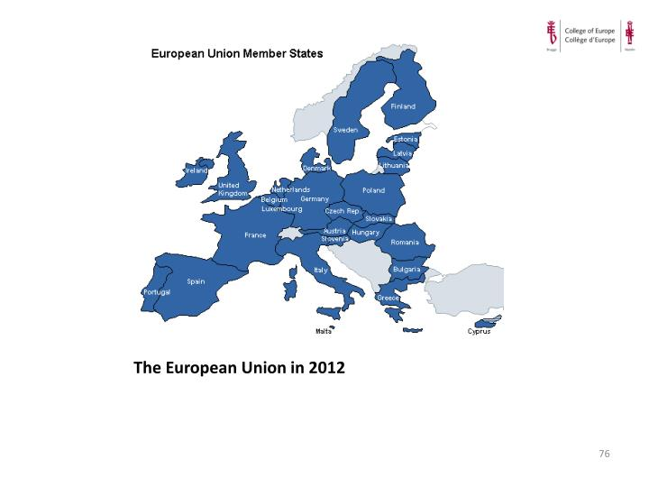 The European Union in 2012