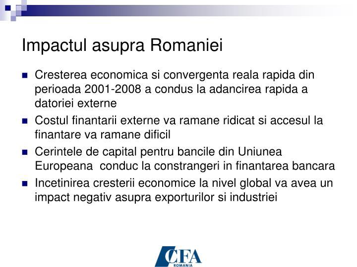 Impactul asupra Romaniei