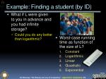 example finding a student by id2