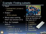 example finding subsets