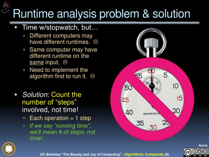 "UC Berkeley CS10 ""The Beauty and Joy of Computing"" : Algorithm Complexity"