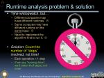 runtime analysis problem solution