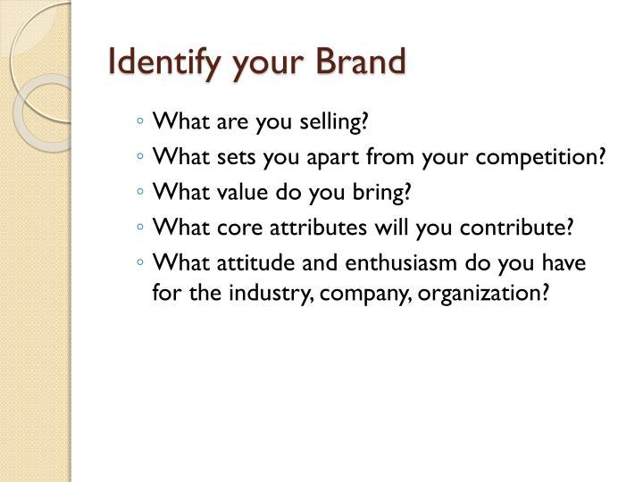Identify your Brand