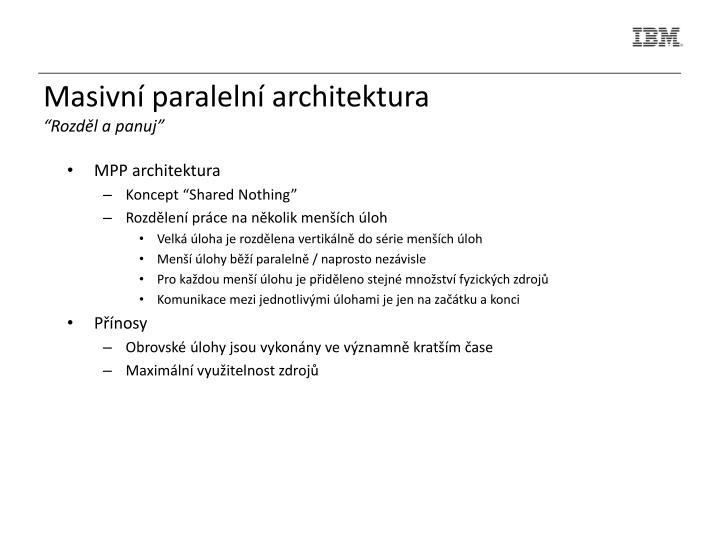 Masivní paralelní architektura