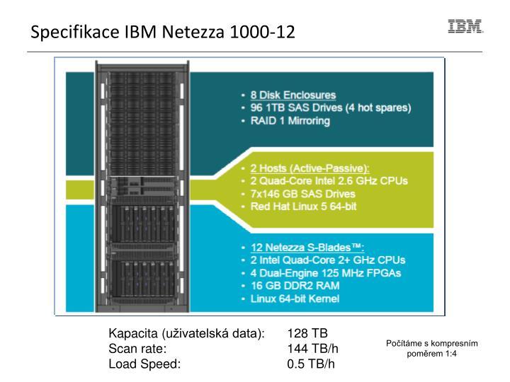 Specifikace IBM Netezza 1000-12