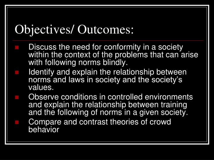Objectives/ Outcomes: