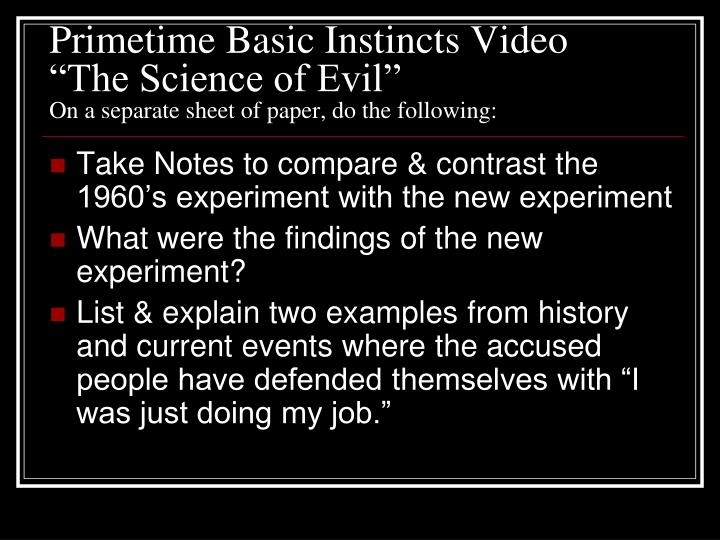 Primetime Basic Instincts Video