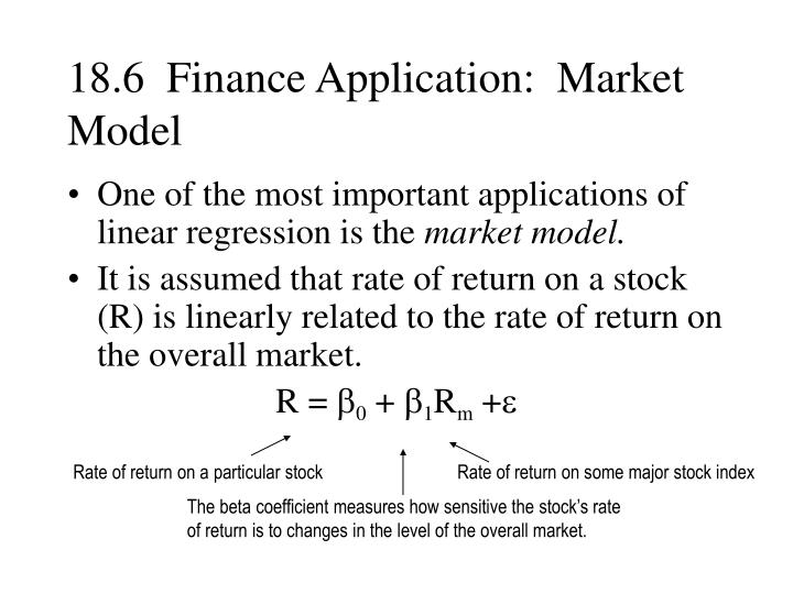 18.6  Finance Application:  Market Model