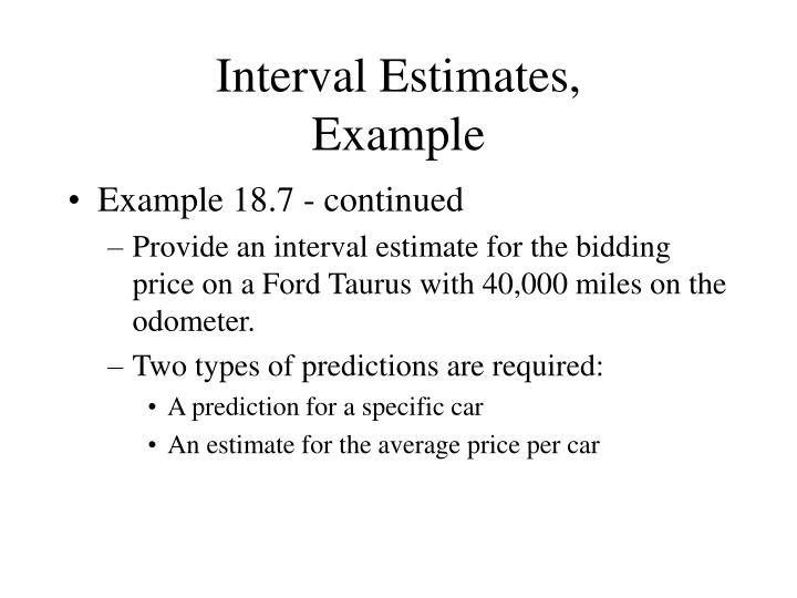 Interval Estimates,