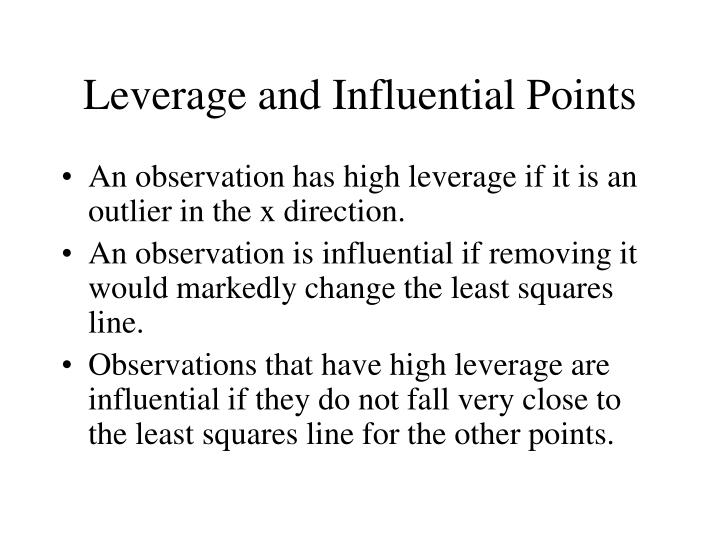 Leverage and Influential Points