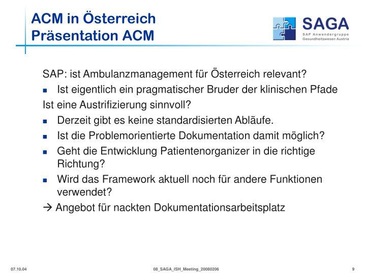 ACM in Österreich