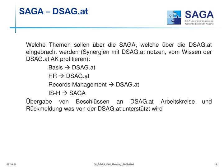 SAGA – DSAG.at