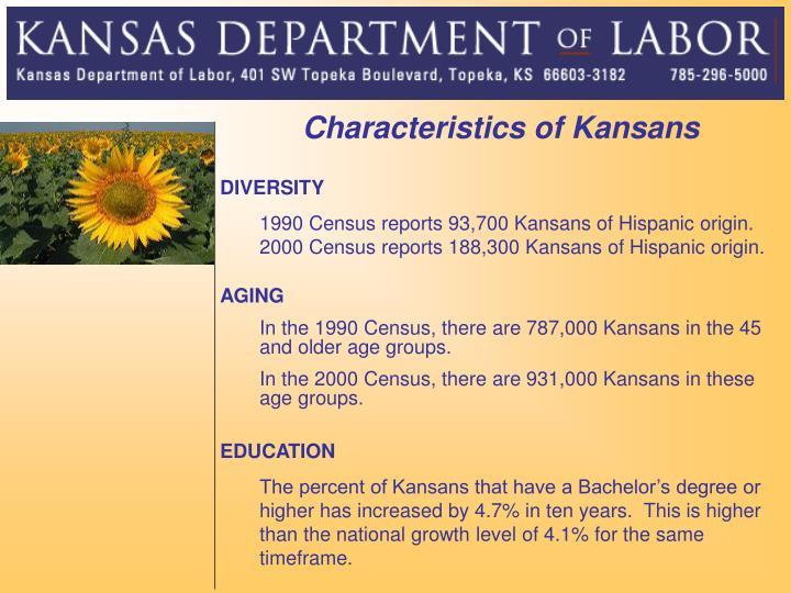 Characteristics of Kansans