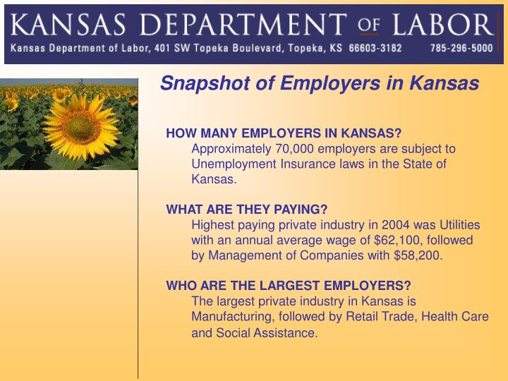 Snapshot of Employers in Kansas