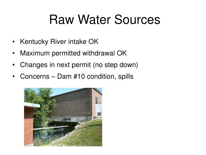 Raw Water Sources